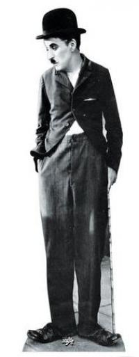 Pappaufsteller Charlie Chaplin lebensgroß - Tagesmiete - Mieten