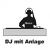 DJ mit Musik- und Lichtanlage Grundpaket 1