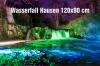 12-Fotodruck auf Leinwand 120x80 cm - Hausen Wasserfall